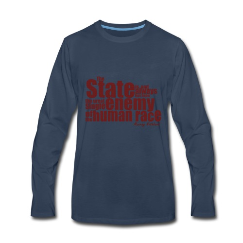 enemy human race rothbard zitat - Men's Premium Long Sleeve T-Shirt