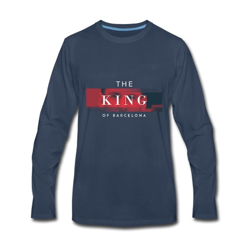 /Leo Messi King Desgn/ - Men's Premium Long Sleeve T-Shirt