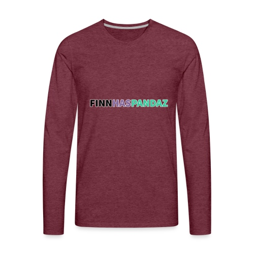 FinnHasPandaz Logo - Men's Premium Long Sleeve T-Shirt