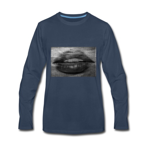 Blurry Lips - Men's Premium Long Sleeve T-Shirt