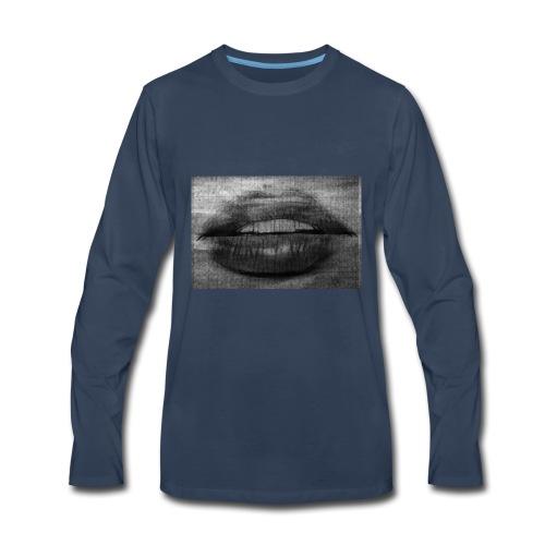 Blurry Lips - Men's Premium Long Sleeve T-Shirt