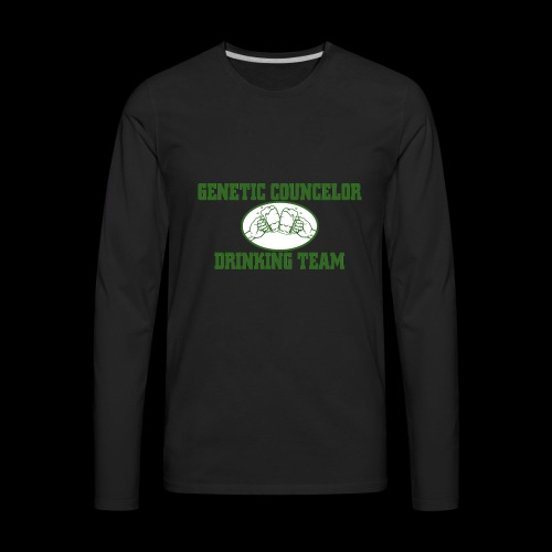 genetic counselor drinking team - Men's Premium Long Sleeve T-Shirt