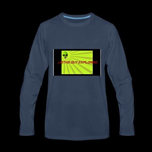 i love ligths out exploring - Men's Premium Long Sleeve T-Shirt