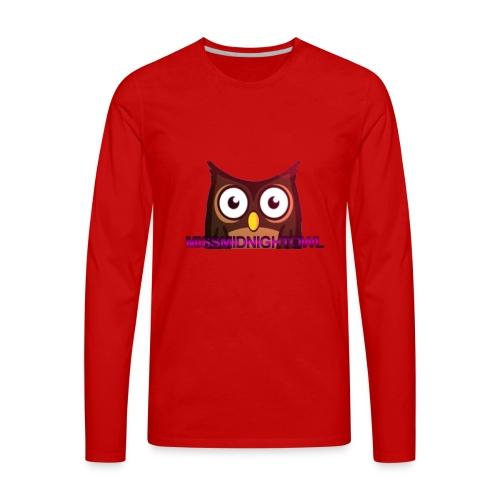 MissMidnightOwl male clothing - Men's Premium Long Sleeve T-Shirt