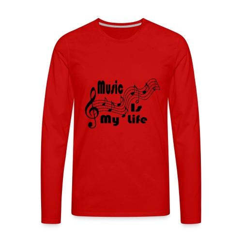 Music Is My Life - Men's Premium Long Sleeve T-Shirt