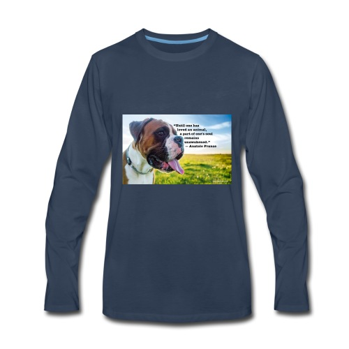 Until one has loved an animal - Men's Premium Long Sleeve T-Shirt