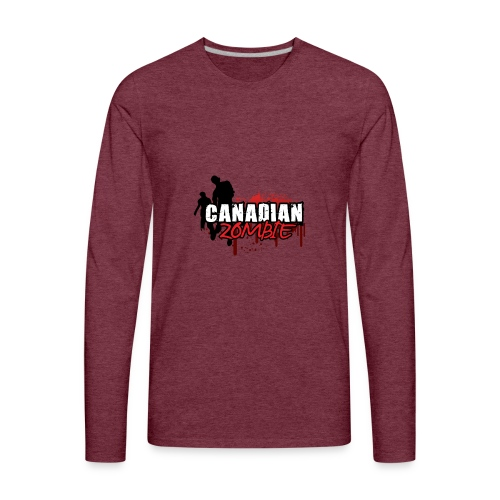 Canadian Zombie - Men's Premium Long Sleeve T-Shirt
