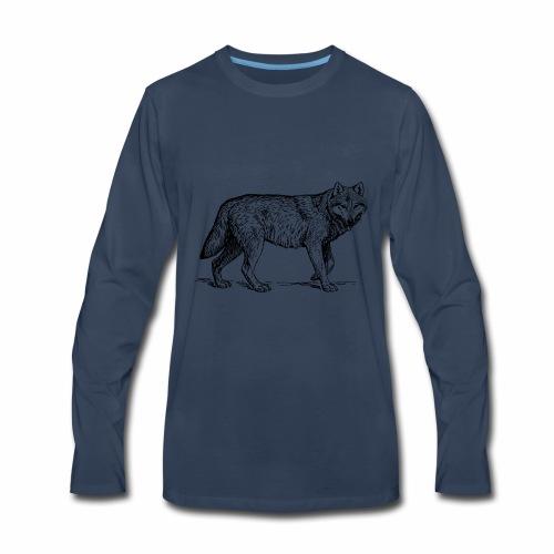 wolf T-shirt/wolf accessories/wolf apparel - Men's Premium Long Sleeve T-Shirt