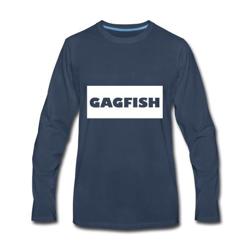 GAGFISH WIGHT LOGO - Men's Premium Long Sleeve T-Shirt