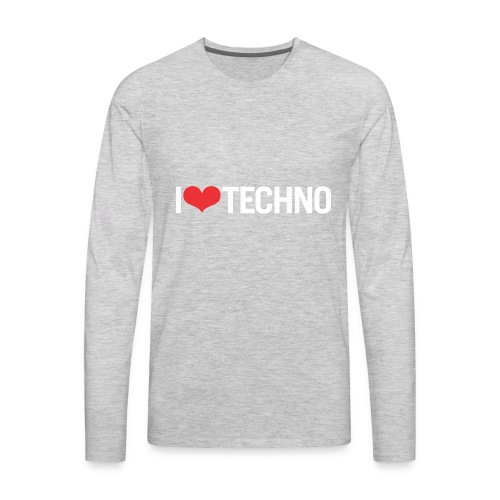 I Love Techno - Men's Premium Long Sleeve T-Shirt