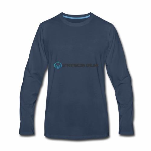 stratiscoin online dark - Men's Premium Long Sleeve T-Shirt