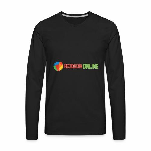 Reddcoin online logo red and green - Men's Premium Long Sleeve T-Shirt