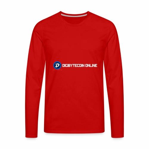 Digibyte online light - Men's Premium Long Sleeve T-Shirt