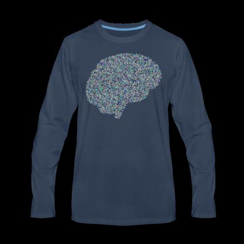 brain scramble - Men's Premium Long Sleeve T-Shirt