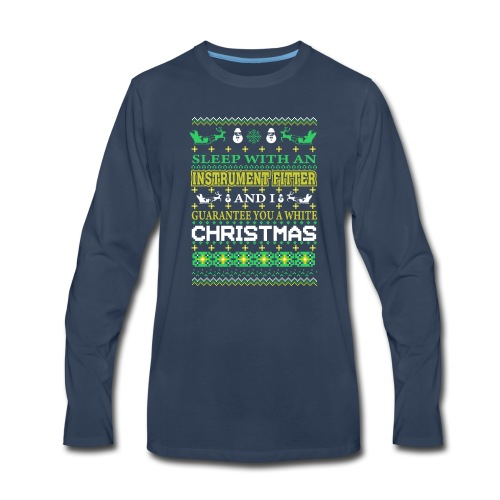 UGLY SWEATER INSTRUMENT FITTER XMAS T-SHIRTS - Men's Premium Long Sleeve T-Shirt