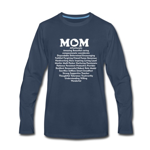 Mom Definition, Mother Definition, Great Mom - Men's Premium Long Sleeve T-Shirt