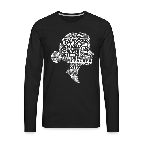 Mother Definition, Teacher Mom, Great Teacher Mom - Men's Premium Long Sleeve T-Shirt