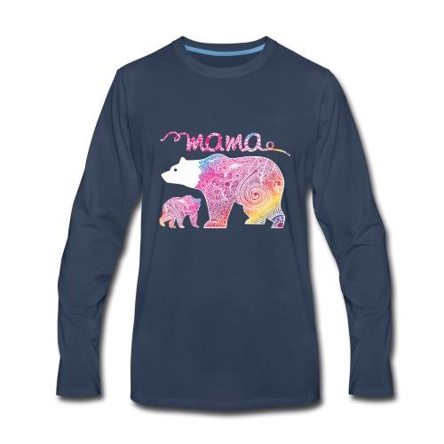 Mama Bear, Mommy Bear, Mother Bear, Mummy Bear - Men's Premium Long Sleeve T-Shirt