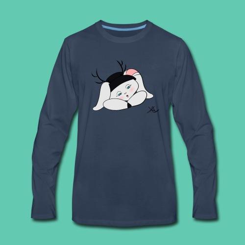 Sleepy Jackalope Annette - Men's Premium Long Sleeve T-Shirt