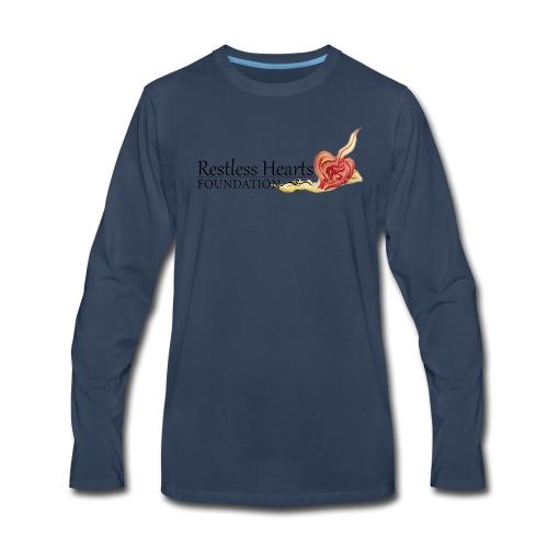 Restless Hearts Foundation Logo - Men's Premium Long Sleeve T-Shirt