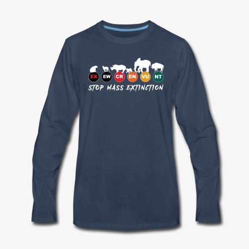 Stop mass extinction ! - Men's Premium Long Sleeve T-Shirt