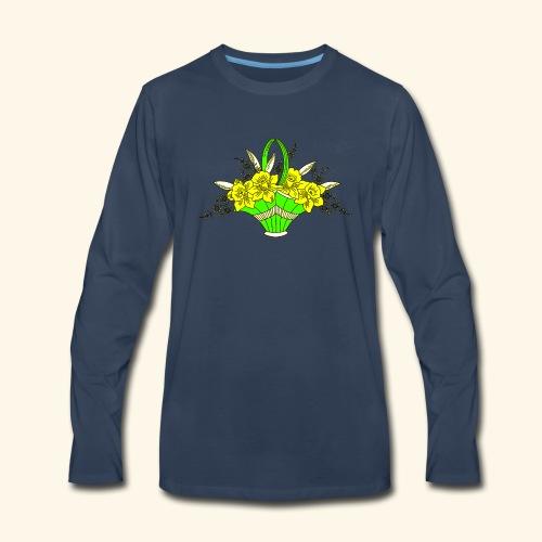 Daffodils Poster - Men's Premium Long Sleeve T-Shirt