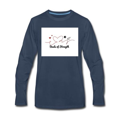 Beads of Strength Logo - Men's Premium Long Sleeve T-Shirt