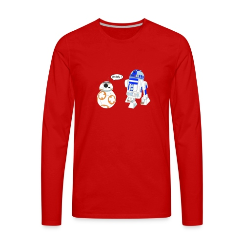 bb8 and r2d2 - Men's Premium Long Sleeve T-Shirt