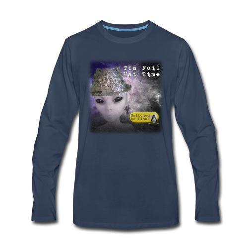 Tin Foil Hat Time (Space) - Men's Premium Long Sleeve T-Shirt