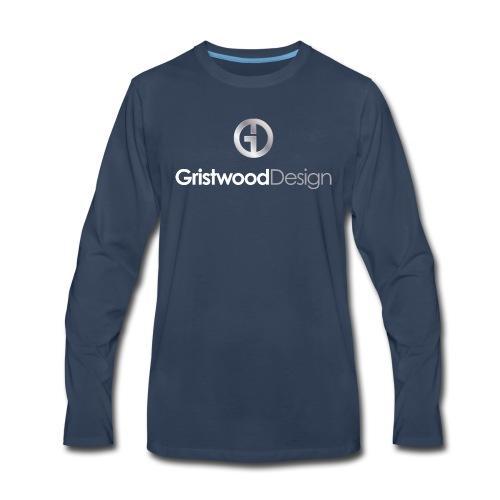 Gristwood Design Logo For Dark Fabric - Men's Premium Long Sleeve T-Shirt