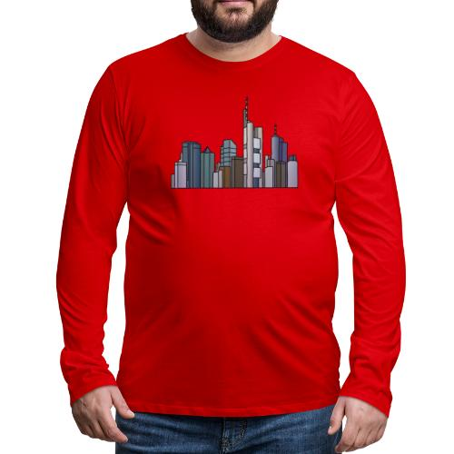 Frankfurt skyline - Men's Premium Long Sleeve T-Shirt
