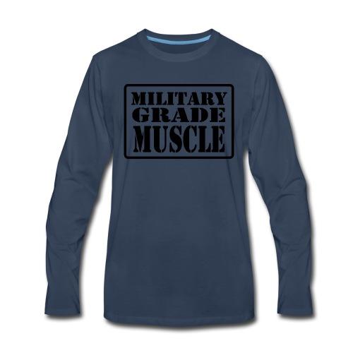Military Grade Muscle Black - Men's Premium Long Sleeve T-Shirt