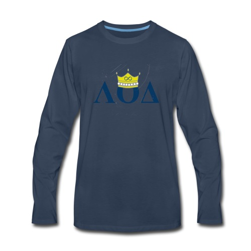 Crown Letters - Men's Premium Long Sleeve T-Shirt