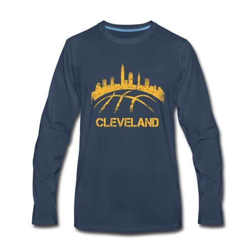 Cleveland Basketball Skyline - Men's Premium Long Sleeve T-Shirt