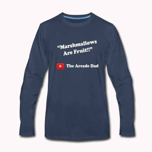 The Arcade Dad marshmallows are fruit shirt - Men's Premium Long Sleeve T-Shirt