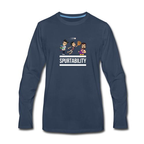 Spurtability White Text - Men's Premium Long Sleeve T-Shirt