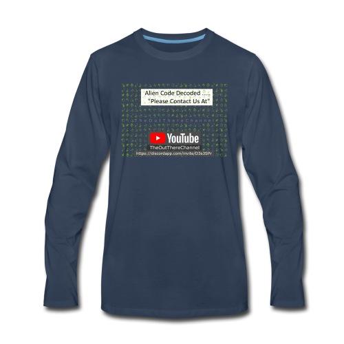 AlienCode v3 TransparentBG2019 - Men's Premium Long Sleeve T-Shirt
