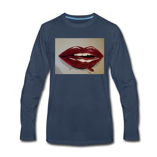 Hot Lips - Men's Premium Long Sleeve T-Shirt