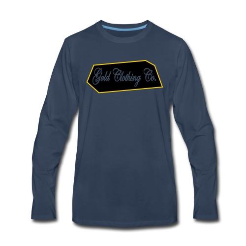 GOLD Clothing Co. Brick Logo - Men's Premium Long Sleeve T-Shirt