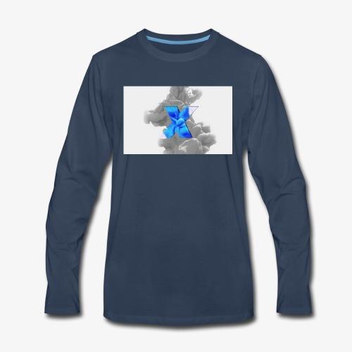 Grey smoke - Men's Premium Long Sleeve T-Shirt