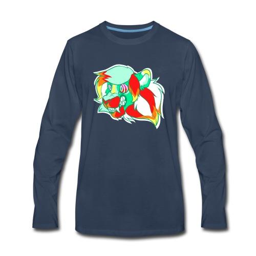 Psychedelic Lion - Men's Premium Long Sleeve T-Shirt