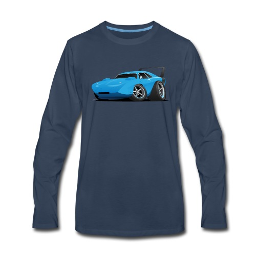 Classic American Winged Muscle Car Hot Rod - Men's Premium Long Sleeve T-Shirt