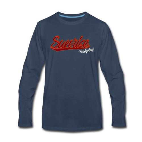 Sunrise Roleplay Logo (White) - Men's Premium Long Sleeve T-Shirt