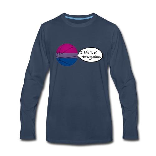Bible/Bi-Ball Pun (For Those Who Like to Explain) - Men's Premium Long Sleeve T-Shirt