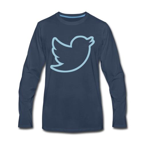 Twitter Bird Border - Men's Premium Long Sleeve T-Shirt
