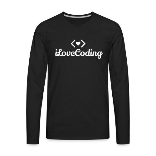 I Love Coding - Men's Premium Long Sleeve T-Shirt