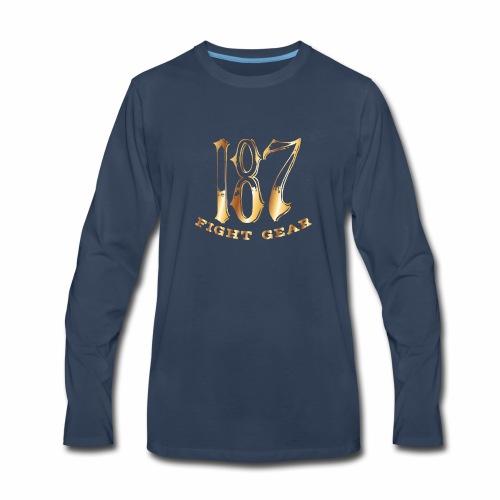 187 Fight Gear Gold Logo Street Wear - Men's Premium Long Sleeve T-Shirt