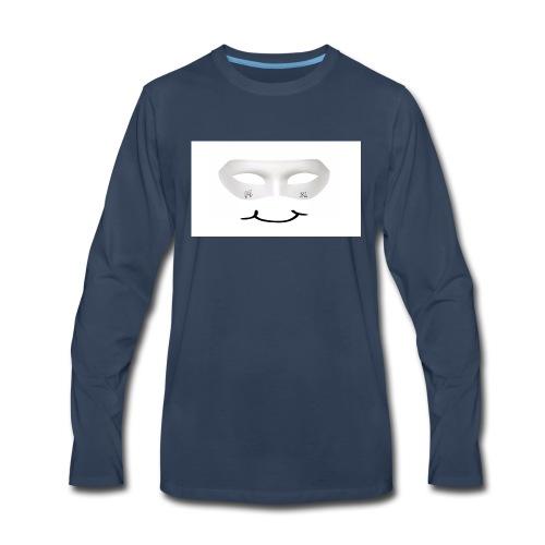 Mx Mask Smile (1) - Men's Premium Long Sleeve T-Shirt