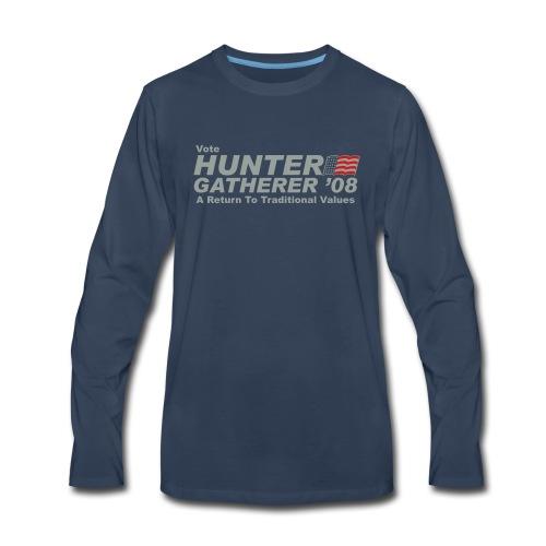 Vote Hunter/Gatherer - Men's Premium Long Sleeve T-Shirt