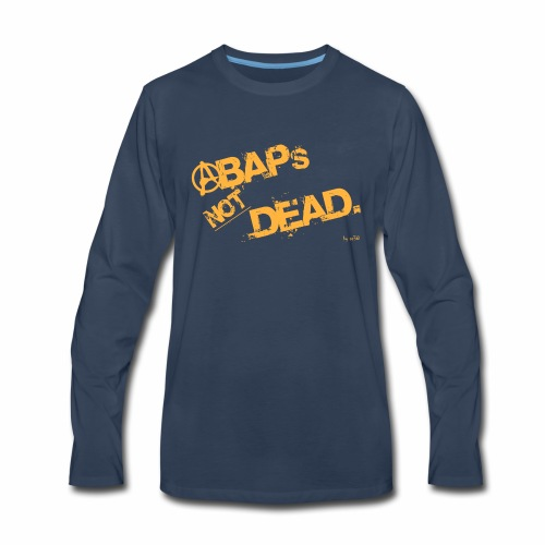 ABAPsNotDead orange - Men's Premium Long Sleeve T-Shirt